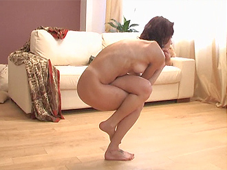 Nataly in new naked yoga series