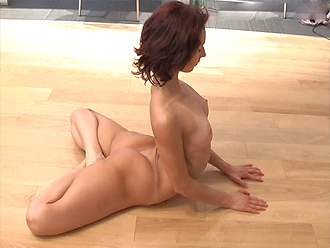 Flexible naked girl Nataly in new nude yoga video