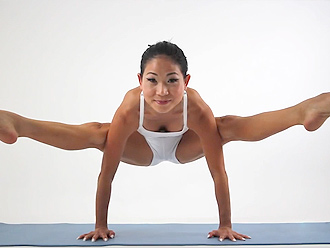 asian Naked yoga