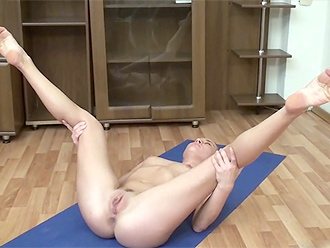 Homemade naked yoga