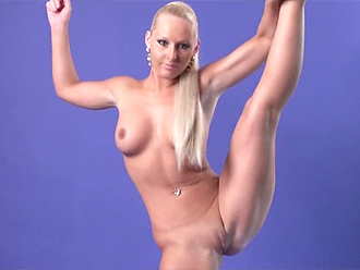 Naked gymnast in hot nude yoga poses