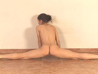 Hot naked yoga workout