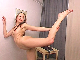 Homemade nude yoga