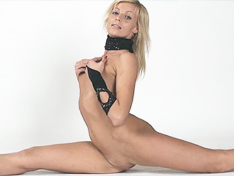 Nude yoga fantasies with the naked gymnast