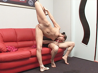 Nude yoga sex with the naked ballerina