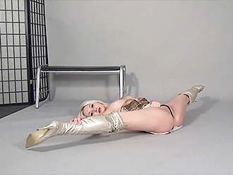 Hottest nude yoga split