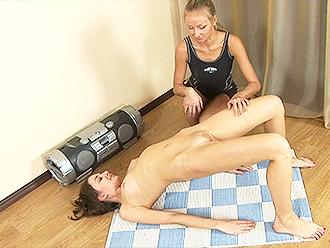 Lesbian yoga training