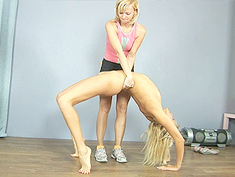 Lesbian yoga lesson
