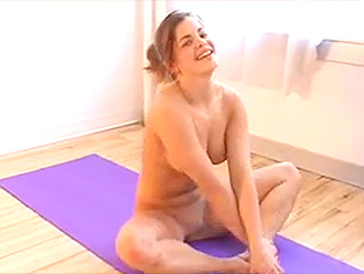Nude yoga exercises for cheerleaders