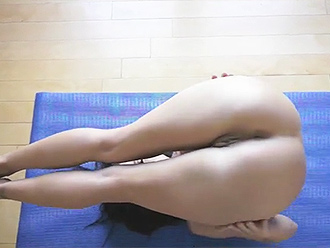 Nude yoga self sex at home
