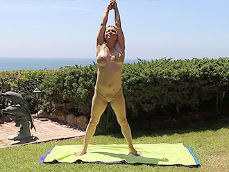 Nearly nude yoga