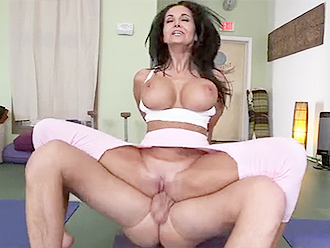 Busty girl in nude yoga porn video