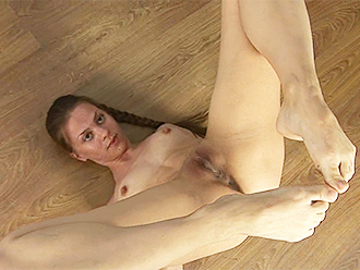 Hot nude yoga workout with the naked gymnast