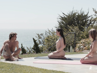 Naked yoga porn trailer