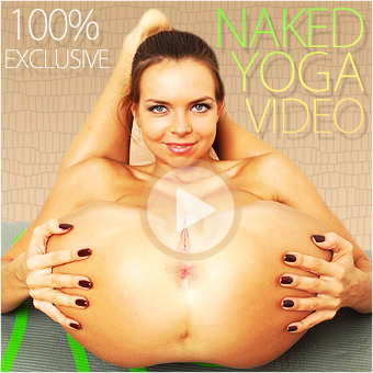 Naked yoga video