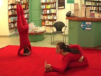 Public yoga pants