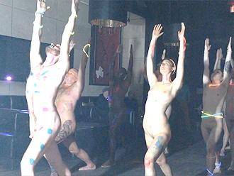 Nude yoga performance