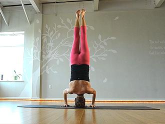 Hot yoga girl in pink yoga pants