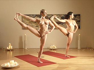 Nude yoga video compilation