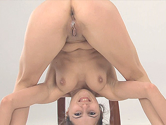Flexible naked girls in nude yoga video