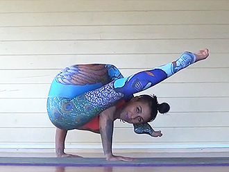 Hot yoga practice