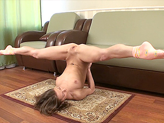 Nude yoga with the naked contortionist