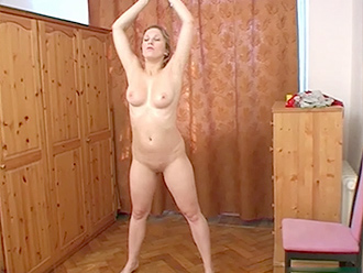 Nude yoga workout video