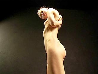 Skinny naked yoga amateur