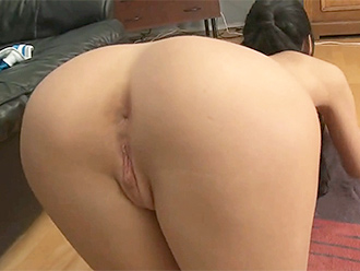 Sexy nude yoga from behind