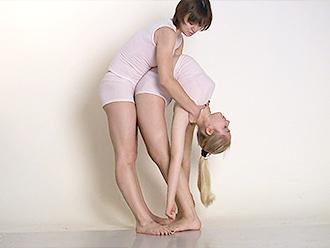 Sexy yoga duet