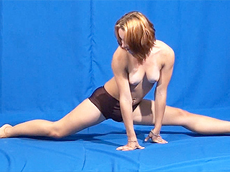 Erotic nude yoga workout