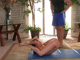Naked yoga sex video