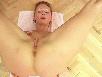 Homemade nude yoga workout with the flexible naked girl