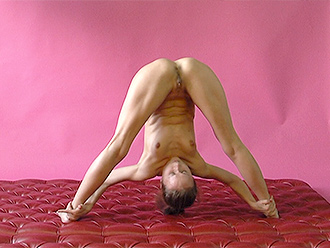Hot naked yoga in the studio