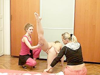 Lesbian naked yoga sex lesson