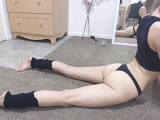 Webcam sexy yoga video
