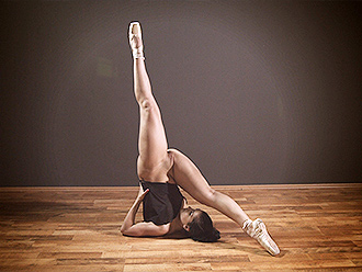 Super flexible naked ballerina does nude yoga exercises