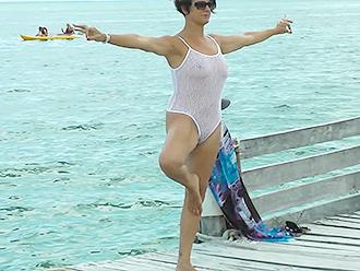 Public nude yoga