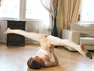 Nude gymnastics and naked yoga