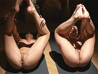 Lesbian yoga porn meditation
