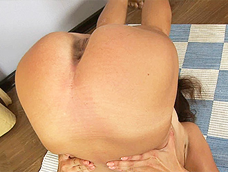 Amateur nude yoga exercises at home