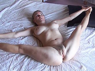 Hot nude gymnastics at home