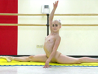 Flexible naked ballerina