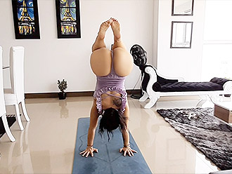 Amateur nearly nude yoga video