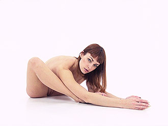 Nude yoga presented to you by flexible girl Zu Zu