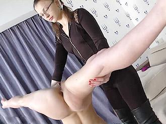 Lesbian yoga with cute flexible sex doll in this yoga porn video