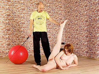 Fetish yoga porn where fat flexible nude girl be ordered to make humiliating things