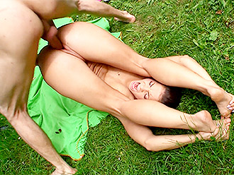 Yoga porn video with nude gymnast for flexible porn collection
