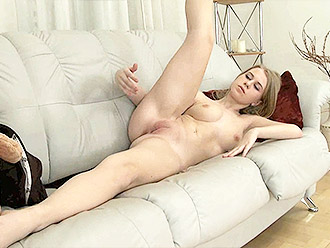 Flexible naked girl warmup for sports porn and nude yoga