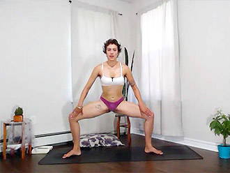 Hot flexible girl shows you homemade sexy yoga